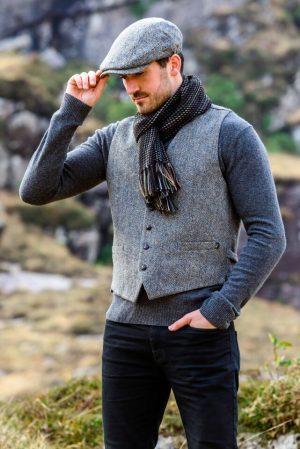 Mucros Gray Irish Tweed Waistcoat