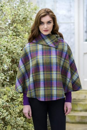 Multi Color Mucros Irish Poncho