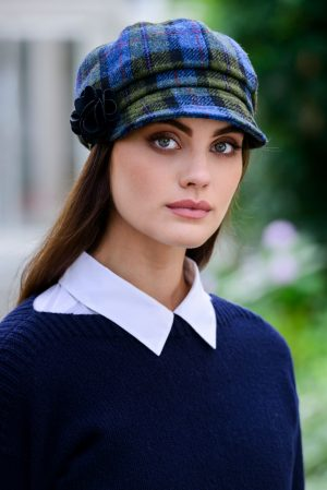 Ladies Tweed Hat Mucros Newsboy