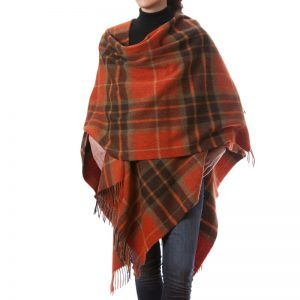John Hanly Orange Check Liz Cape