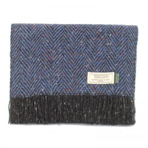 Blue Donegal Tweed Scarf - Mucros Weavers dt23