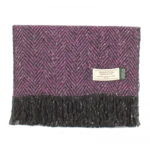 Purple Donegal Tweed Scarf Mucros Weavers dt22