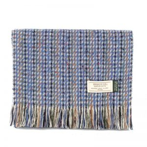 Blue Donegal Tweed Scarf Mucros Weavers dt33