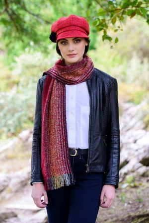 Mucros Red Irish Skellig Scarf