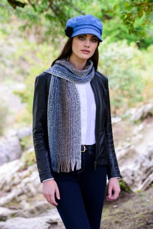Mucros Irish Blue Skellig Scarf