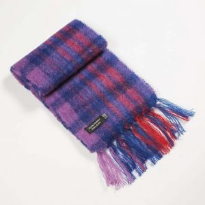 Blue Red Mohair Scarf John Hanly 1563