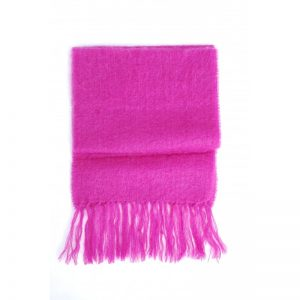 Pink John Hanly Mohair Scarf