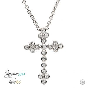 Celtic Cross With Swarovski Crystal sw95