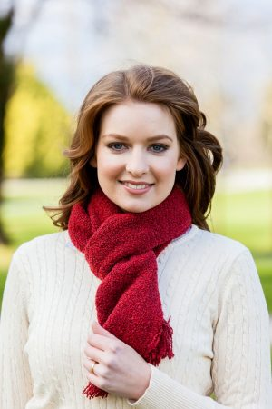 Mucros Red Skellig Scarf