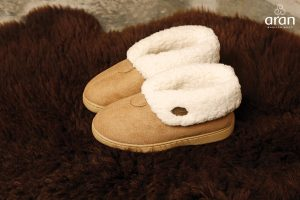 Childs Boot Suede Wool Slippers
