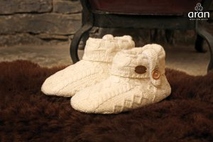 Kids Aran Wool Slippers