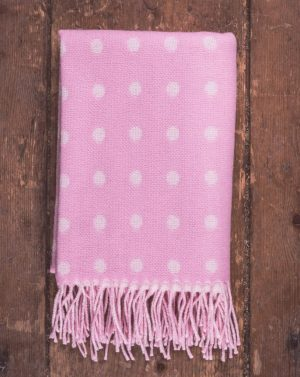 'Foxford Pink Spot Baby Blanket 3529/A1