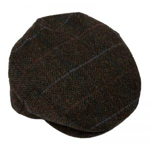 John Hanly Dark Green Windowpane Cap