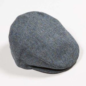 John Hanly Blue Tweed Cap h74