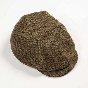 John Hanly Brown Tweed Cap h16
