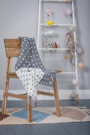 Foxford Gray Spot Baby Blanket