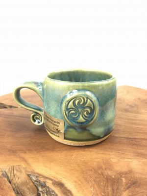 Colm De Ris Green Spiral Coffee Mug