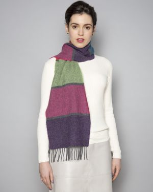 Foxford Lambswool Contemporary Stripe Scarf 3697/a1
