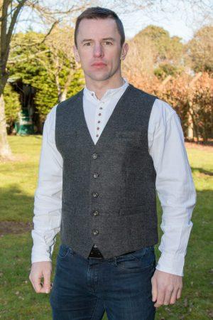Kal Grey Irish Tweed Waistcoat