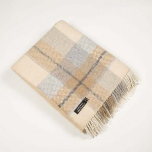 Cream Merino Cashmere Wool Irish Blanket John Hanly 1445