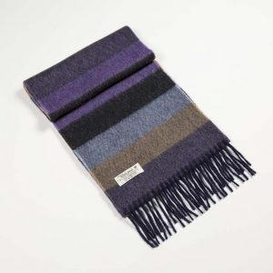 John Hanly Purple Stripe Scarf