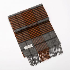 Orange Gray John Hanly Scarf