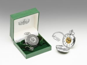 Mullingar Pewter Shamorck Pocket Watch Celtic Design