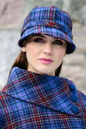Ladies Mucros Check Flapper Cap