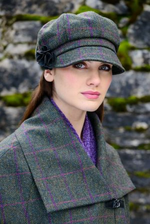 Mucros Green Newsboy Hat