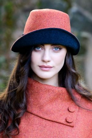 Mucros Orange Clodagh Tweed Hat