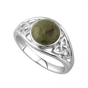 Solvar Connemara Marble Trinity Ring s2832