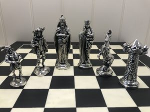 Mullingar Pewter Medieval Chess Set