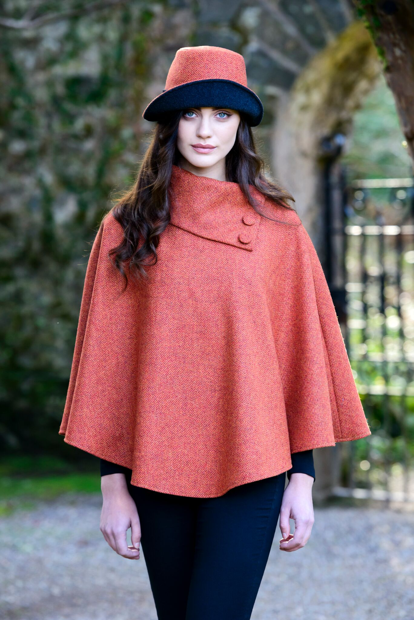 2960e0de0ab Mucros Orange Clodagh Tweed Hat- Skellig Gift Store