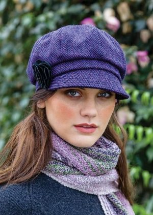 Ladies Purple Mucros Newsboy Cap 213