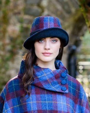 Mucros Red Blue Clodagh Hat
