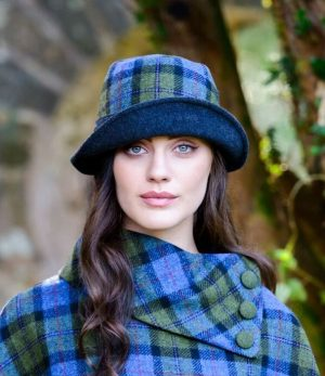 Mucros Green Blue Clodagh Hat