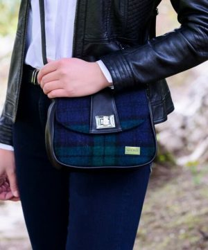 Sarah Mucros Shoulder Bag Black Watch