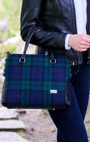 Mucros Green Navy Emily bag