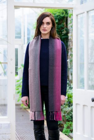 Mucros Dingle Pink Irish Scarf
