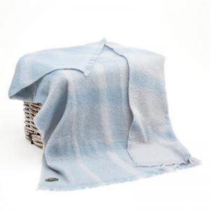 John Hanly Baby Blue Mohair Blanket