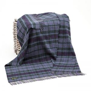 John Hanly Purple Green Blanket
