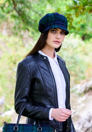 Mucros Black Watch Newsboy Cap