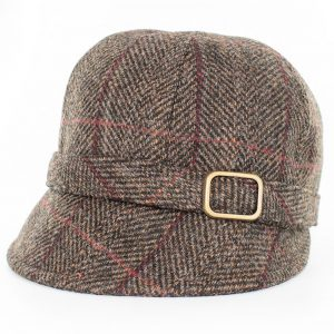 Ladies Mucros Brown Flapper Cap