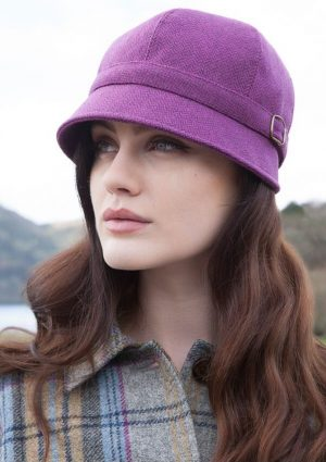 Mucros Purple Flapper Cap Hat