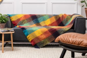 Foxford Multi Color Block Mohair Blanket 4261/b2