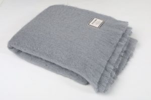 Foxford Gray Mohair Blanket Throw 3515/z21