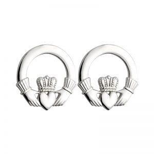 Solvar Large Heavy Claddagh Earrings S3325
