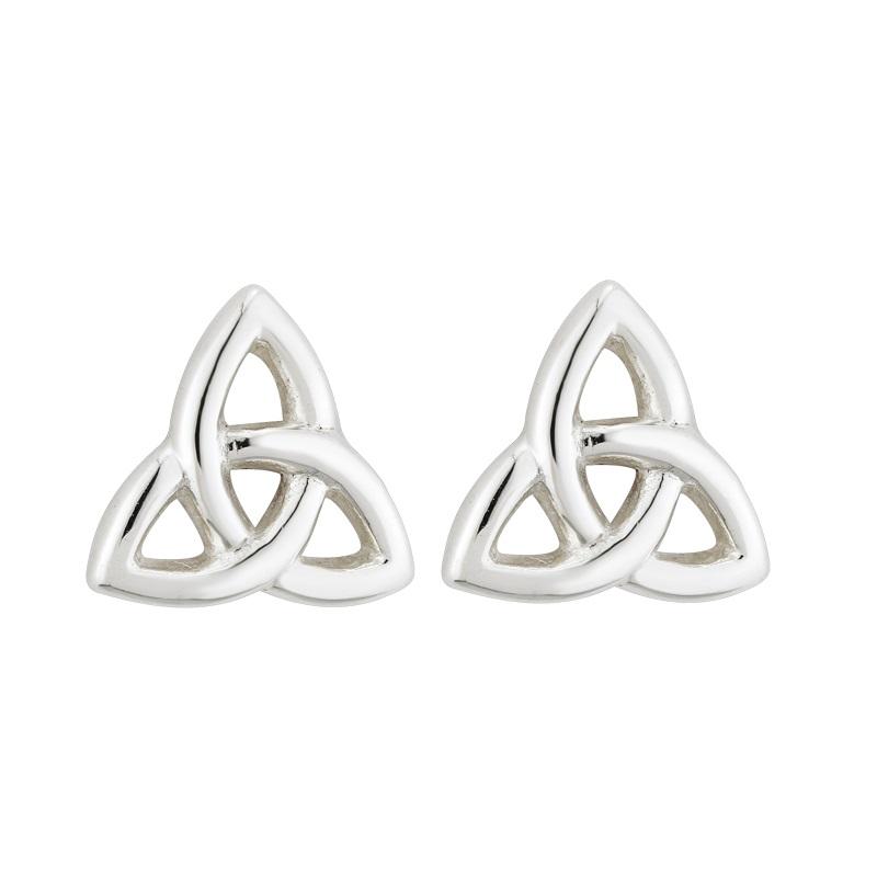 1b2f5ebb1 Solvar Silver Small Trinity Knot Earrings s3082-Skellig Gift Store