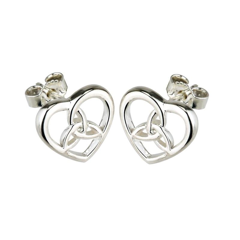 76d864da4 Solvar Silver Celtic Trinity Knot Earrings s3100-Skellig Gift Store