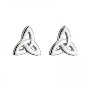 Solvar Sterling Silver Trinity Knot Earrings s33098